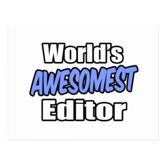 World's Awesomest Editor Postcard