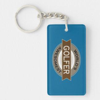 Worlds Awesomest Golfer Keychain