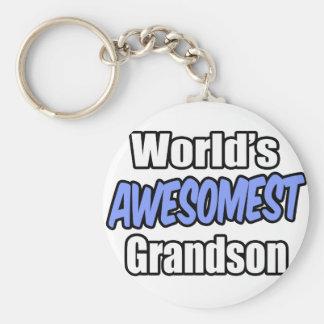 World's Awesomest Grandson Keychain