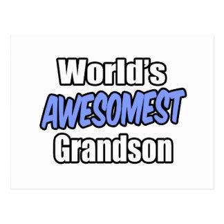World's Awesomest Grandson Postcard