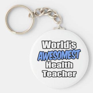 World's Awesomest Health Teacher Keychain