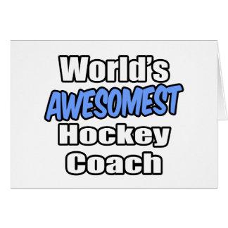 World's Awesomest Hockey Coach Card