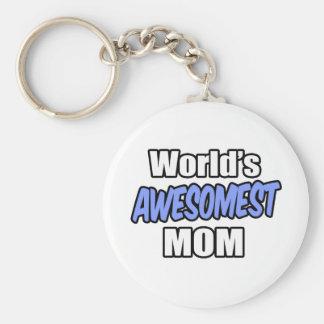 World's Awesomest Mom Keychain