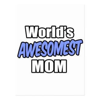 World's Awesomest Mom Postcard