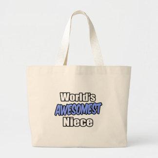 World's Awesomest Niece Jumbo Tote Bag