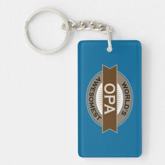 Worlds Awesomest Opa Keychain