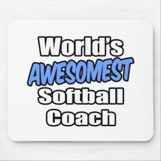 World's Awesomest Softball Coach Mouse Pad