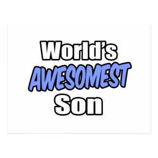 World's Awesomest Son Postcard