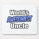 World's Awesomest Uncle Mouse Pad