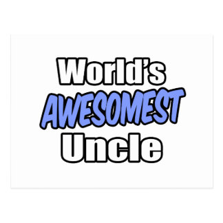 World's Awesomest Uncle Postcard