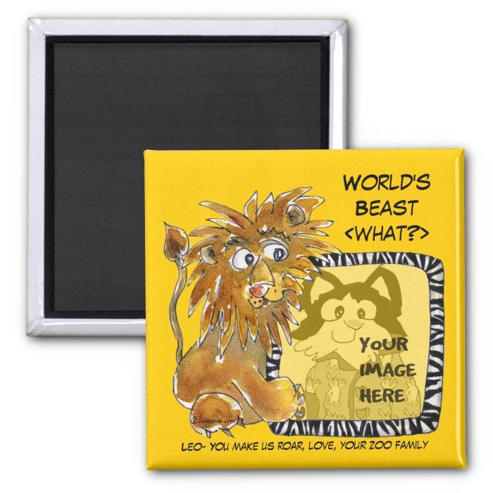 Worlds Beast [What?] Cartoon Magnet