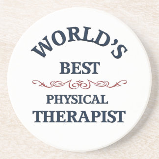 World's beat Physical Therapist Sandstone Coaster