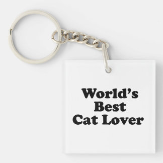 World's Bes Cat Lover Keychain