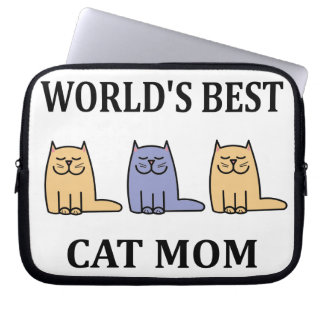 World's Besr Cat Mom #2 Computer Sleeve