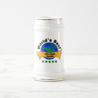 World's Best 10th. Grade Teacher Beer Stein