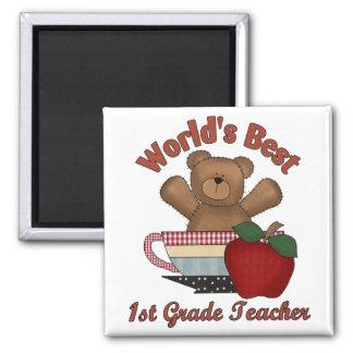 World's Best 1st Grade Teacher Magnet