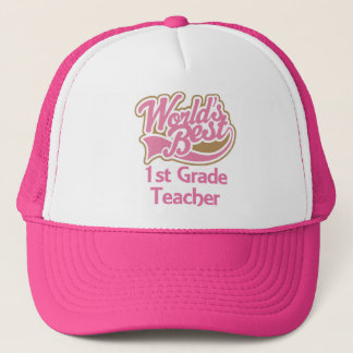 Worlds Best 1st Grade Teacher Trucker Hat