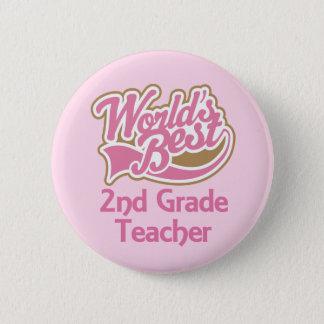 Worlds Best 2nd Grade Teacher Button