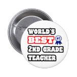 World's Best 2nd Grade Teacher Button