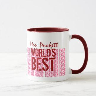 World's Best 2nd Grade Teacher Custom Name G101 Mug