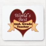 World's Best 2nd. Grade Teacher Mousepad