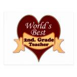 World's Best 2nd. Grade Teacher Post Card