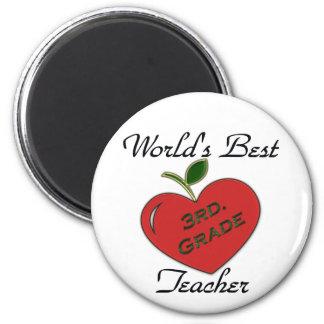 World's Best 3rd. Grade Teacher 2 Inch Round Magnet