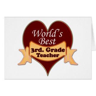World's Best 3rd. Grade Teacher Card