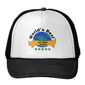 World's Best 5th. Grade Teacher Hats