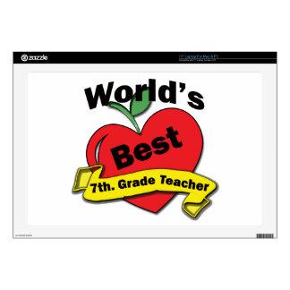 World's Best 7th. Grade Teacher Laptop Decal
