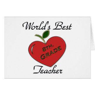 World's Best 8th. Grade Teacher Greeting Card