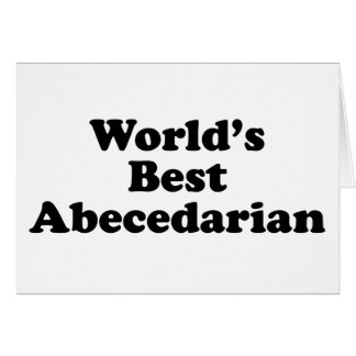 World's best abecedarian card