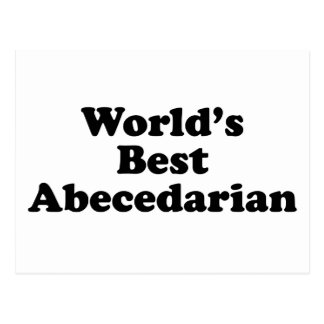World's best abecedarian postcard