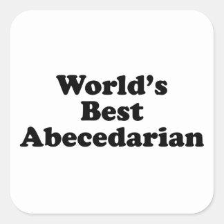 World's best abecedarian square sticker