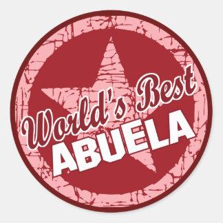 Worlds Best Abuela Classic Round Sticker