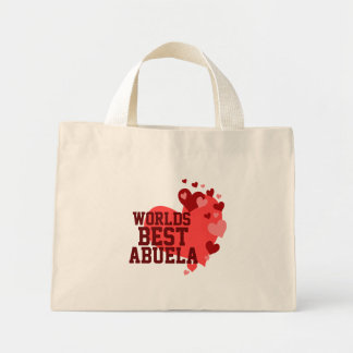 Worlds Best Abuela Personalized Mini Tote Bag
