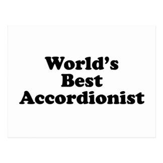 World's Best Accordionist Postcard