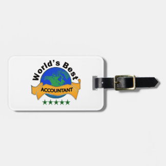 World's Best Accountant Bag Tag