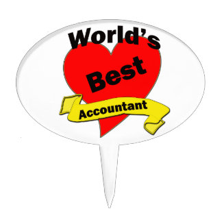 World's Best Accountant Cake Picks