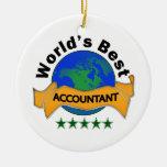World's Best Accountant Christmas Ornament