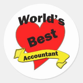 World's Best Accountant Classic Round Sticker