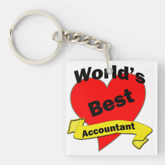 World's Best Accountant Keychain