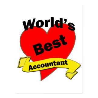 World's Best Accountant Postcard