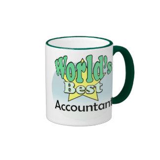 World's best accountant ringer coffee mug