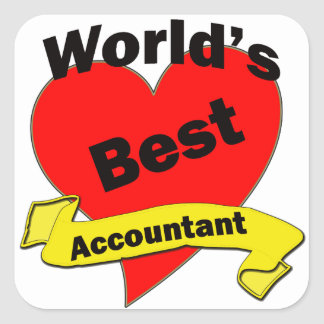 World's Best Accountant Square Stickers