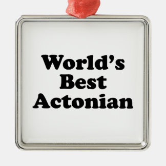 World's Best Actonian Metal Ornament