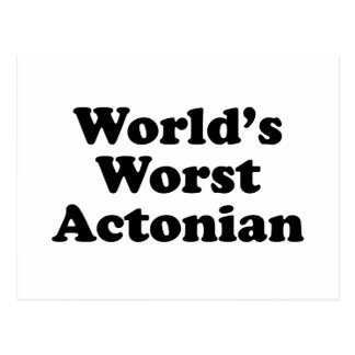 World's Best Actonian Postcard