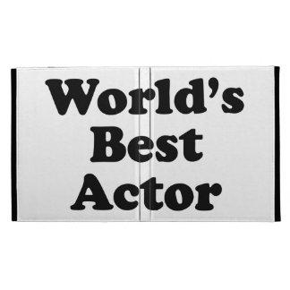 World's Best Actor iPad Folio Case