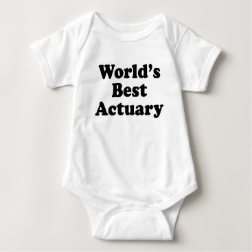 Professional Business World's Best Actuary Baby Bodysuit