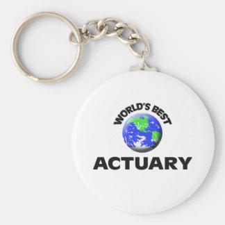 World's Best Actuary Keychain